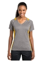 Picture of LADIES'  V-NECK COLORBLOCK CONTENDER TEE
